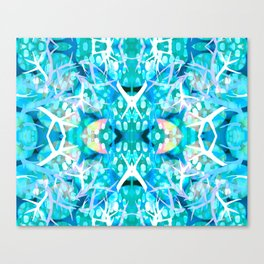 Turquoise staghorn repeat Canvas Print