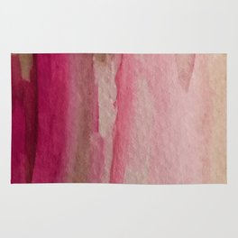Blush: a pretty and gentle watercolor piece in pinks and browns Rug