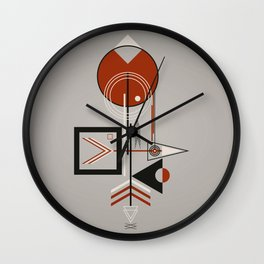 The bird and the fish at sunset Wall Clock