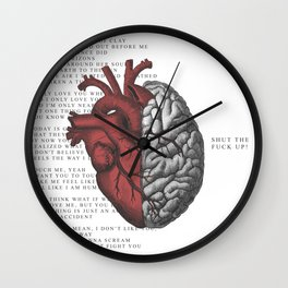 SHUT THE F*CK UP! Wall Clock