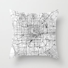 Beijing White Map Throw Pillow