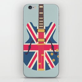 Union Jack Flag Guitar - Slate iPhone Skin