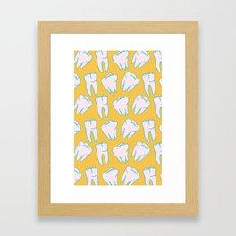 Teeth Pattern Framed Art Print