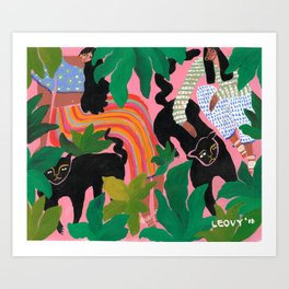 Wild friends Art Print