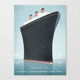 Vintage Travel Poster - Cruise Ship Canvas Print