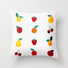 Tutti Frutti Throw Pillow