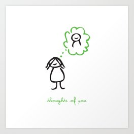 Thoughts of You Art Print