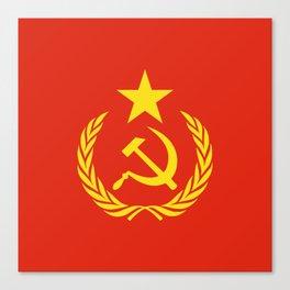 Russian Communist Flag Hammer & Sickle Canvas Print