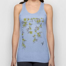 Birds and Cherry blossoms II Unisex Tank Top
