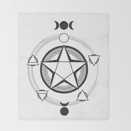 Elemental Pentagram Throw Blanket