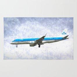 KlM Embraer 190 Art Rug