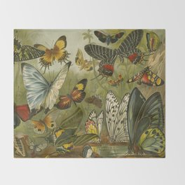 Papillons  Throw Blanket