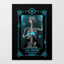 The Gamer X Tarot Card Canvas Print