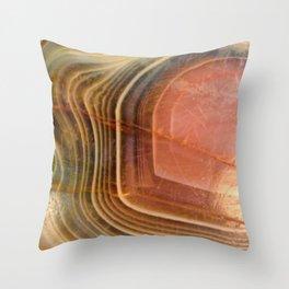 Botswana agate Throw Pillow