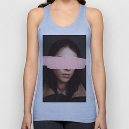 Portrait of a Woman Blushing. Unisex Tank Top