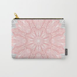 MANDALA IN GREY AND PINK Carry-All Pouch