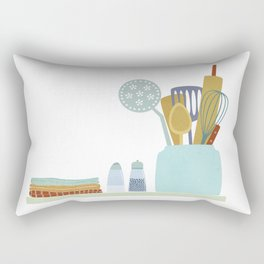 The Kitchen Shelf Rectangular Pillow