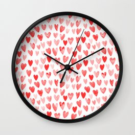 Watercolor heart pattern perfect gift to say i love you on valentines day Wall Clock