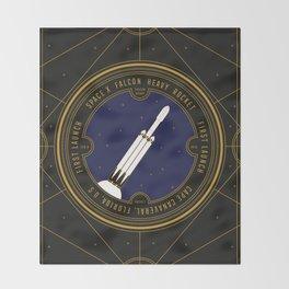 Falcon Heavy Throw Blanket