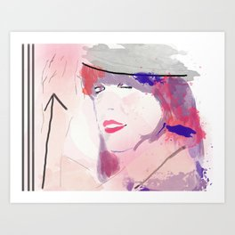 Miss Direction  Art Print