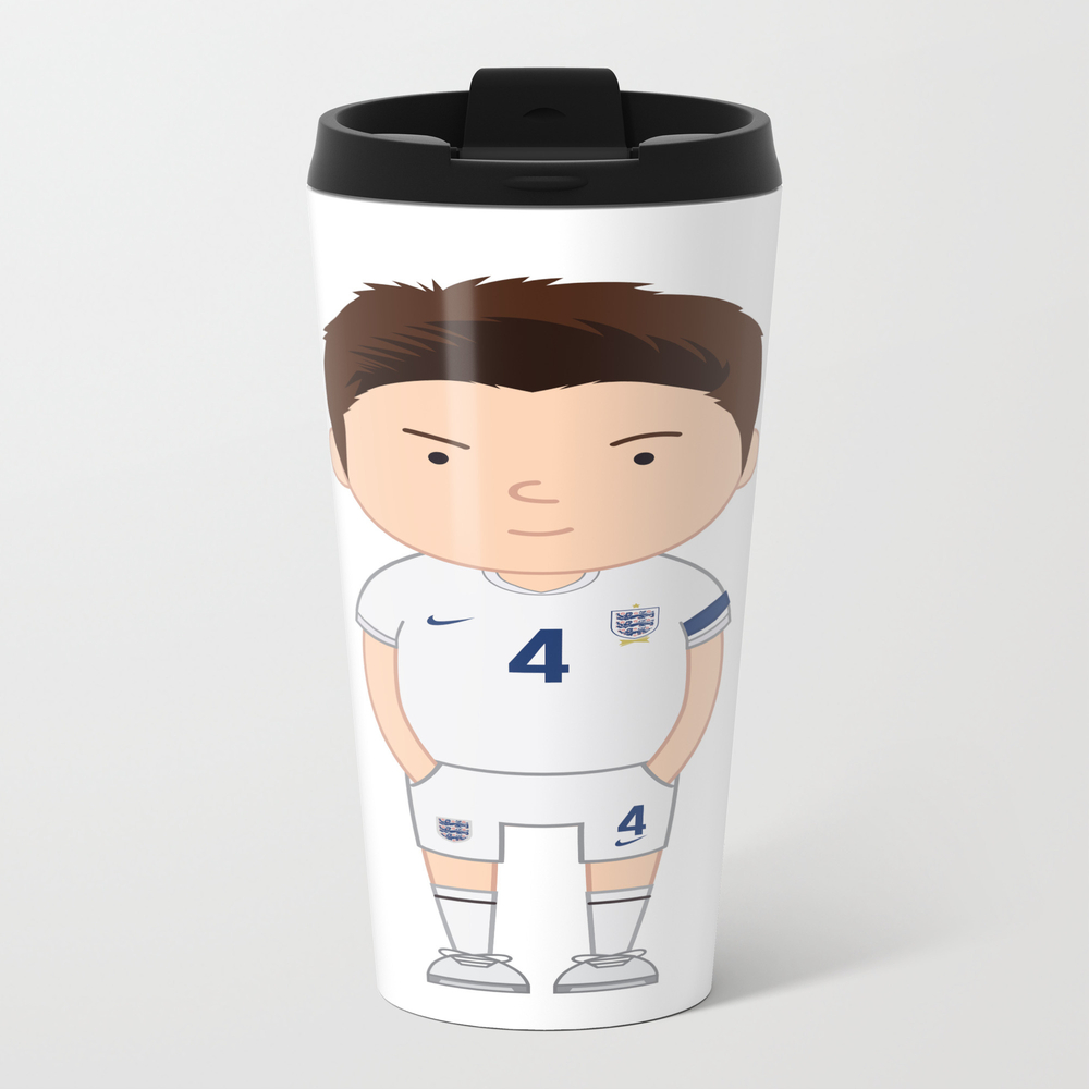 Steven Gerrard - England - World Cup 2014 Metal Travel Mug by Toonsoccer MTM9041461