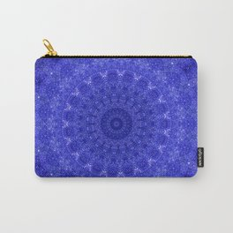 Cosmos Mandala II Cobalt Blue Carry-All Pouch