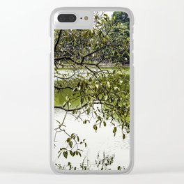 Tree Branches Hanging over the Emerald Green Colored Hoan Kiem Lake in Hanoi, Vietnam Clear iPhone Case