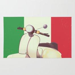Italia Scooter vintage poster Rug