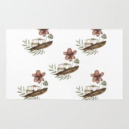 Flower Boat Pattern Rug