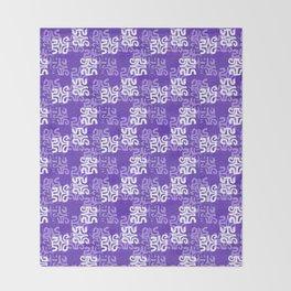 Swanky Mo Purple Throw Blanket