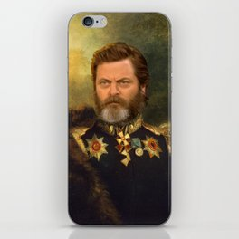 Nick Offerman Classical Painting Photoshop iPhone Skin