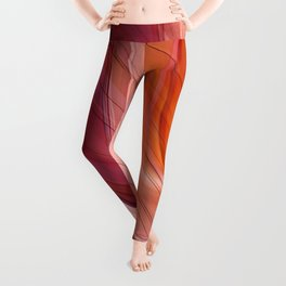 Colorgradient purple and orange Leggings