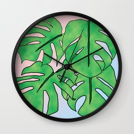 Monstera Gradient Wall Clock