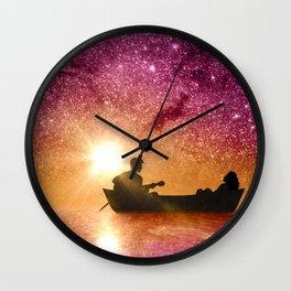 Serenade in the night Wall Clock