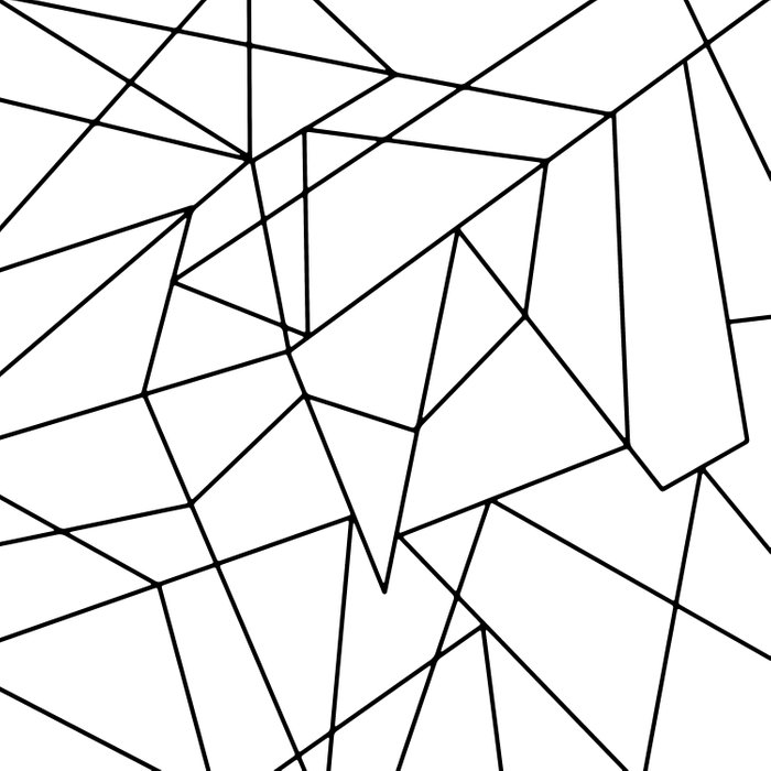 Simple Modern Black and White Geometric Pattern Duvet Cover