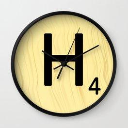 Scrabble H Decor, Scrabble Art, Large Scrabble Prints, Word Art, Accessories, Apparel, Home Decor Wall Clock