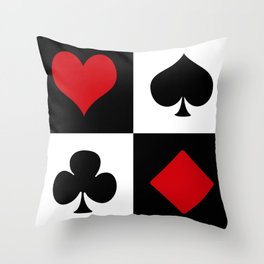 Playing card Throw Pillow