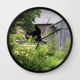 A Peek At The Barn Wall Clock