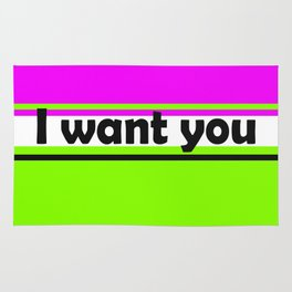 I want you 2 Rug