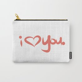 I Love You in Peach Carry-All Pouch