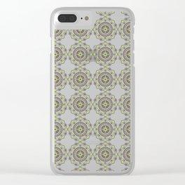Heart Mandala – Green Clear iPhone Case