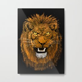 Thunder Lion Metal Print