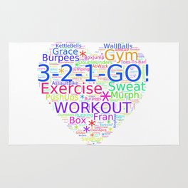 Love to Exercise & Work Out - Workout Love Rug