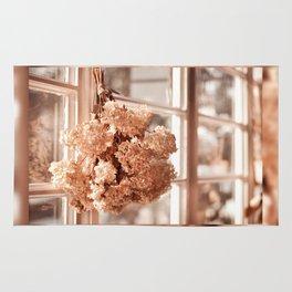 Tethered hydrangea or hortensia Rug