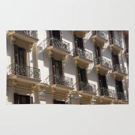 Barcelona architecture Rug