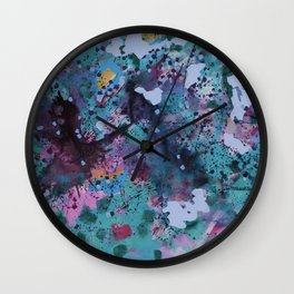Sparkling nature in summer Wall Clock