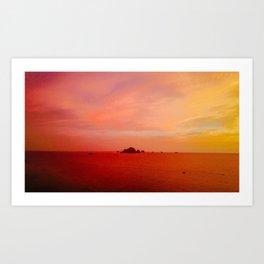Drone Krabi Sunset, Thailand Art Print