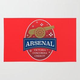 North London Red Football Rug