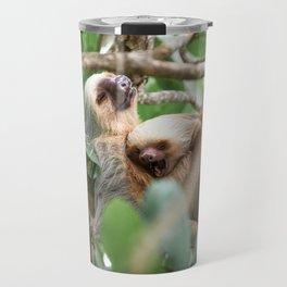 Yawning Baby Sloth - Cahuita Costa Rica Travel Mug
