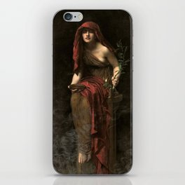 John Collier - Priestess of Delphi, 1891 iPhone Skin